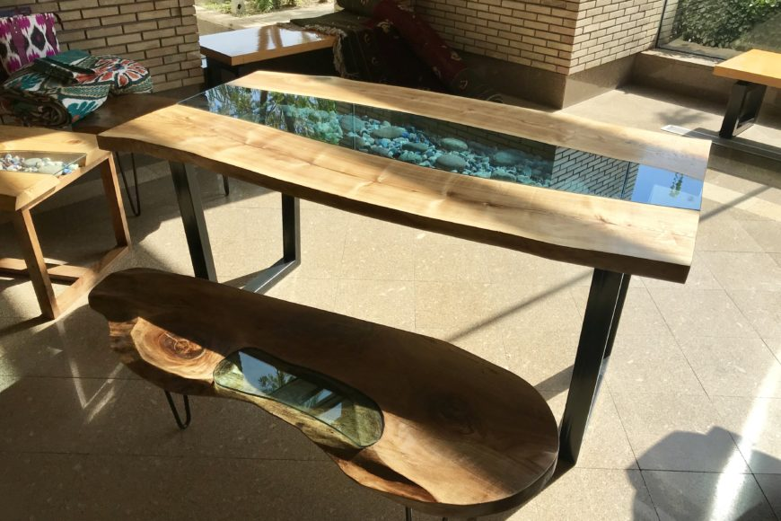 Live edge river tables