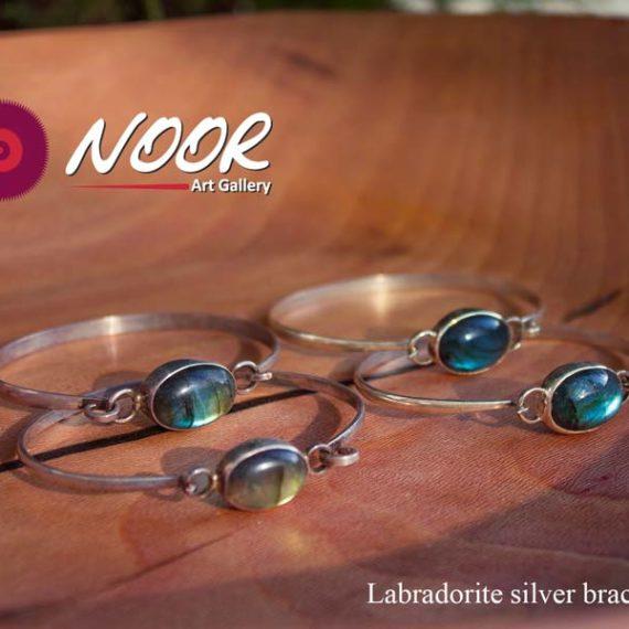 Labradorite silver bracelets