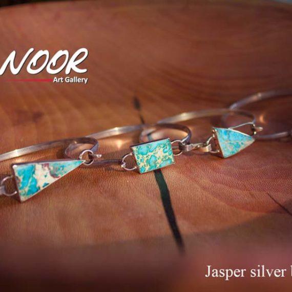 Jasper silver bracelets