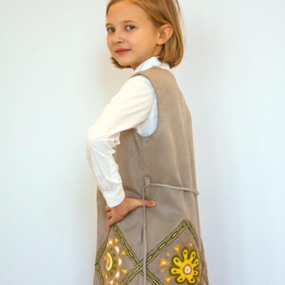 Handmade embroidered vest for kids