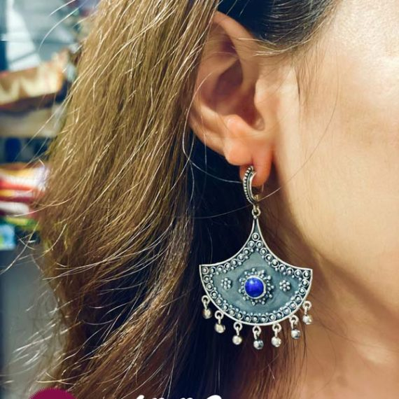 Lapis silver earrings
