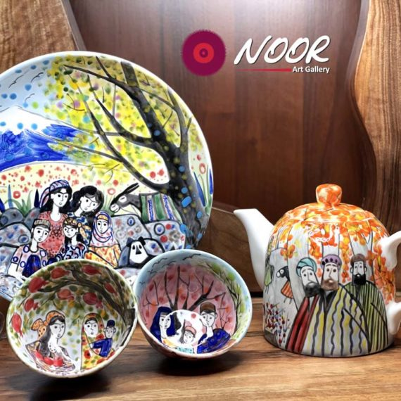 Hand painted porcelain dishes