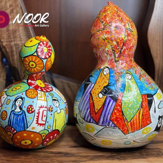 Hand painted decorative pumpkin